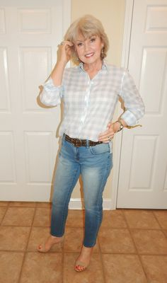 light colored shirt with jeans/belt, super comfy and cute! Like heels, go for it! dont?..exchange it for flats or open toed sandals. you could also roll the end of your pants up too for that springy look.