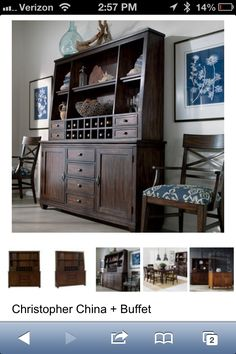 Christopher Collection At Ethan Allen Hutch And Buffet