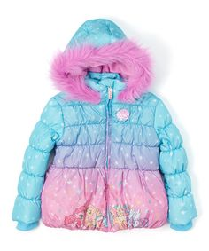 Love this Blue & Pink My Little Pony Sublimation Puffer Coat - Toddler & Girls on #zulily! #zulilyfinds