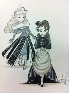 Steampunk Aurora & Belle ~<3