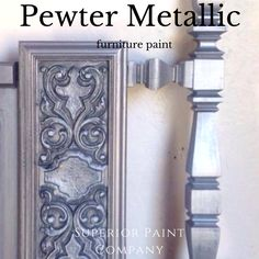 Modern Masters Pewter Metallic Painted headboard from The Refinish Line Metallic Painted Furniture, Metal Furniture, Painted Headboard, Paint Companies, Pewter Metal, Modern Masters, Headboards, Nest, Painting