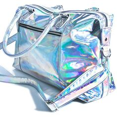 Current Mood Holographic Weekender (€42) ❤ liked on Polyvore featuring bags and luggage