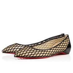 Chaussures femme - Pigaresille Flat Kid/filet - Christian Louboutin