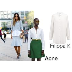 White shirt by challii on Polyvore