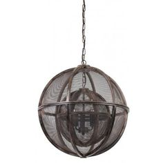 Shop for Urban Designs Querida Rust Double Sphere Hanging Pendant Lamp. Get free delivery On EVERYTHING* Overstock - Your Online Ceiling Lighting Store! Orb Pendant Light, Pendant Lamp, Pendant Lighting, Chandelier, Globe Pendant, Farmhouse Lamps, Farmhouse Chic, Geometric Lamp, Bright Homes
