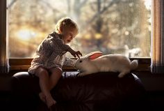 True friends true love by Elena Shumilova #baby #rabbit