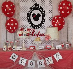 Minnie Mouse Printable Backdrop. $10.00, via Etsy.