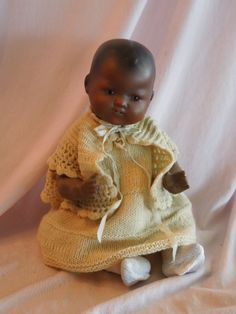 The CUTEST Armand Marseille 351 Black Character Baby Doll $ 465