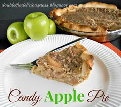 Double the Deliciousness: Candy Apple Pie. Hello. Candy apple PIE. This sounds so yummy! #pie