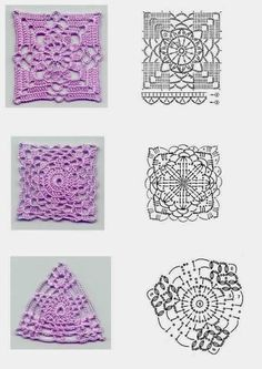 solid granny square patterns ~ Crochet Free Patterns