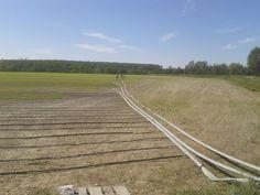 Impianto di irrigazione a goccia per riso in agricoltura - Ferrera Erbognone (PV)