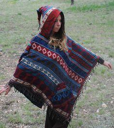 Yak Wool Hooded Poncho - Shawl Elven Hood Hippie Travel Gypsy Elf Fairy Pixie Bohemian by UbuntuThreads on Etsy Poncho Shawl, Hooded Poncho, Wool Poncho, Plaid Scarf, Pixie, Elf, Gypsy, Hoods, Fairy