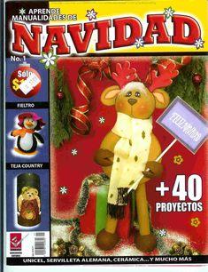 moldes navideños en foamy gratis Christmas Books, Christmas Ornaments, Cross Stitch Books, Reno, Crafts To Do, Album, Holiday Decor, Magazine, Ideas
