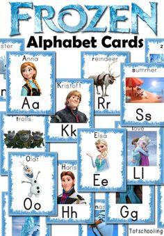 FREE Frozen Alphabet Cards