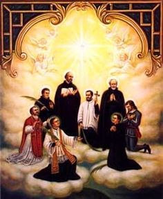 The Canadian Martyrs, patron saints of Canada. Canonized in 1930; Feast Day: September 26 in Canada.