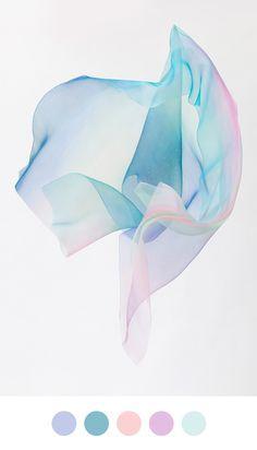 Yuki Fujisawa on Color Collective. Inspired by Pantone's beautiful #ColoroftheYear Rose Quartz & Serenity.