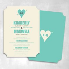 Swoon Wedding Invitation | Smitten on Paper