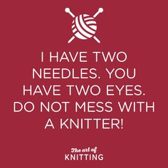 Watch out! #knit #knitting #artofknitting                                                                                                                                                                                 More