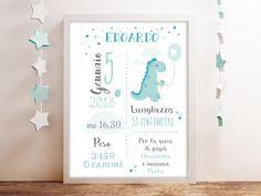 Poster quadretto stampabile digitale nascita - Poster ricordo bimbo - quadro nascita - idea regalo per nascita per bambino e bambina https://etsy.me/2JDAQ6b #nascita #bambino #regalo #battesimo #rosa #bambina
