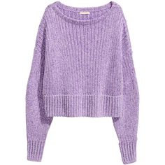 H&M Neulepusero 27,99 (€12) ❤ liked on Polyvore featuring tops, sweaters, h&m, purple top, purple sweater, h&m tops and h&m sweaters
