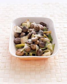 Grilled Mushrooms and Leeks Recipe on Yummly