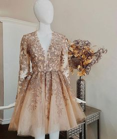 Champagne Homecoming Dress with Sleeves,Stunning Girl Party Dress,freshman homecoming dresses sleeves,homecoming dresses with sleeves knee length,short homecoming dresses Homecoming Dresses Sleeves, Freshman Homecoming Dresses, Champagne Homecoming Dresses, Hoco Dresses, Sexy Dresses, Evening Dresses, Dresses With Sleeves, Graduation Dresses, Champagne Dress