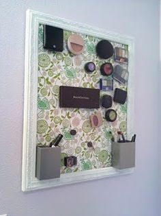 Make up Magnet Board- seriously! How clever!