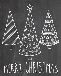 chalkboard merry christmas - Google Search                                                                                                                                                                                 More