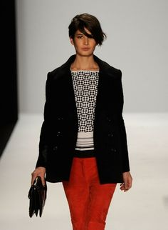 are those suede pants?  Minkoff fall 2012