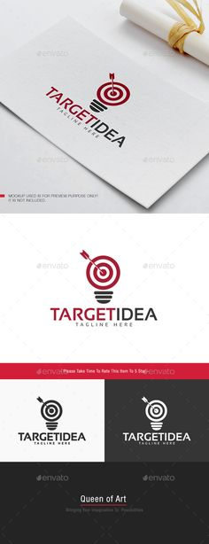 Target Idea  - Logo Design Template Vector #logotype Download it here: http://graphicriver.net/item/target-idea-logo/12329192?s_rank=1370?ref=nesto