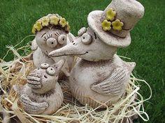 Nabízím různou keramiku, tito ptáčci vyrobeny jako