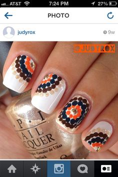 Cool dotticure idea with gold studs