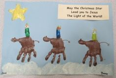 Wise Men Craft | Three Wise Men Handprints. How adorable is this???? | Christmas