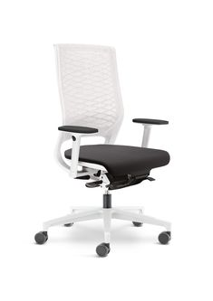 Klöber Mera deskchair netweave white-grey www.kloeber.com