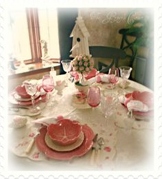 Pink Valentines Day Tablescape