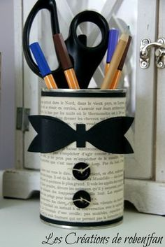 pot a crayon pour papa Tin Can Crafts, Diy And Crafts, Arts And Crafts, Yarn Crafts, Diy For Kids, Crafts For Kids, Pot A Crayon, Father's Day Diy, Fathers Day Crafts