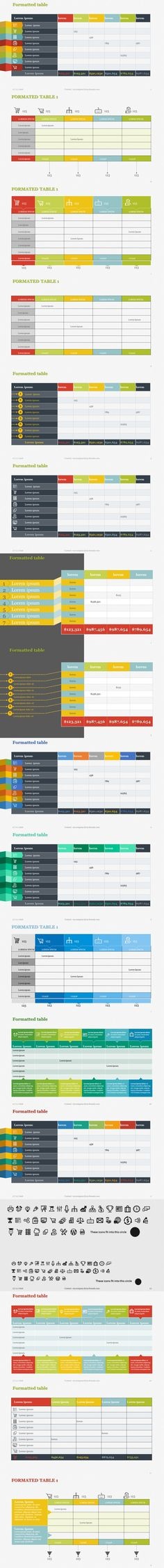 Creative Tables Pack 1 PowerPoint. Presentation Templates. $9.00