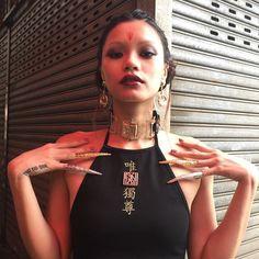 Lady Deathstrike, Dark Art, Chokers, White Rice, People, Fashion, Moda, La Mode, Fasion