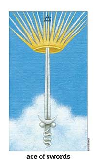 September 6 Tarot Card: Ace of Swords (Sun and Moon deck) Your mind is clear and you're especially aware of what's happening around you now. Keep your head up and your eyes open ~ you have the potential to see things a powerful new light