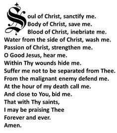 Soul of Christ.....