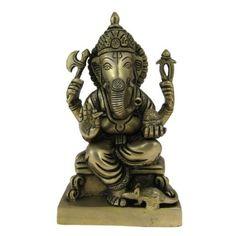 Amazon.com: Religious Gift God Ganesha Statue Brass Sculpture Hindu Art 4.5 x 3 x 8 Inches: Home & Kitchen