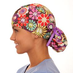 These are the scrub hats that combine the features of the tie and bouffant types. Description from scrubcaps.org. I searched for this on bing.com/images
