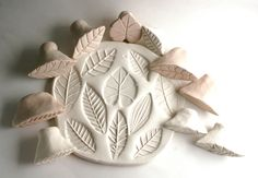 Clay Stamp One RANDOM Leaf Tool for Pattern and von GiselleNo5