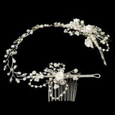 beautiful headband w/combs on the sides to make sure hair stays neat and back. The only problem? ITS $110!!!!  Antheia Elegant Vintage Hair Vine with Side Accent Wedding Bridal Headband Special Moments LLC,http://www.amazon.com/dp/B00FL41W6G/ref=cm_sw_r_pi_dp_aJvktb0YXVKPYSEQ