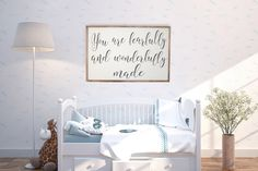 You Are Fearfully And Wonderfully Made Framed Sign, Distressed Sign, Nursery Room Sign, New Baby Sign, Bible Verse Sign, Inspirational Wood by CraftyMamaGifts on Etsy https://www.etsy.com/listing/509969605/you-are-fearfully-and-wonderfully-made