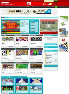 The new RTL Luxembourg games portal, running on the SkillPod Media casual games platform.