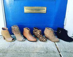 The shoe of the season-  THE BOOTIE Price range- $29.95-$36.95 #madisonsbluebrick #bootie #fallfashion2015 #boutiqueshopping  We ship- Call us at 501-620-4009