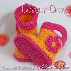 Botitas ganchillo patrón de botitas de bebé para Baby por ebethalan