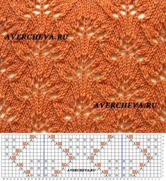 Узор спицами 1022 | каталог вязаных спицами узоров