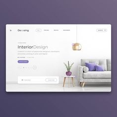 Decosing interior design by sogaso Banner Design Inspiration, Website Design Inspiration, Ui Inspiration, Design Ideas, Portfolio Website Design, Interior Design Website, Web Responsive, Logos Retro, Catalog Design